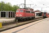 1 May 2004 :: DB 110 484 after arrival at Singen (Hohentwiel) running round its train in readiness for the return working