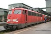 1 May 2004 :: DB 110 484 at Stuttgart Hbf and will work the 0818 to Singen (Hohentwiel)