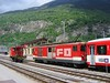 22 May 2004 :: A Furka Oberalp Deh 4/4  is pictured waiting at Brig Bahnhofplatz