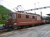 22 May 2004 :: BLS class Re 4/4 no. 177 stands at Speiz with a train heading toward Brig