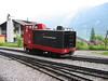 5 June 2004 :: Brienz Rothorn Bahn diesel Hm 2/2  no. 9 is waiting at Brienz.  Lake Brienz is in the background