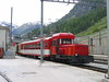 4 June 2004 :: Matterhorn Gotterhard Bahn (MGB) Gm3/3 diesel shunter no. 31 is seen moving stock around Zermatt