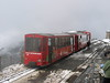 5 June 2004 :: The train that was worked by Hm 2/2 is at the summit station of Rothorn showing the lack of visibility due to low cloud that day