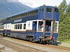 29 May 2005 :: Bi-level Rocky Mountaineer coach featuring the viewing platform as the train departs from Jasper