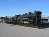 28 May 2005 :: On a plinth outside Jasper station is steam locomotive No. 6015 which is a U-1-a class 4-8-2, which was built August 1923