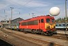 30 April 2005 :: At Budapest-Nyugati is MÁV M41 2109 waiting to depart with a train of heavily graffitied coaches