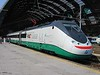 "17 July 2005 :: Trenitalia ""Eurostar"" standing in the late morning sunshine at Milan Central Station"