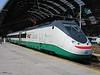 "17 July 2005 :: Trenitalia ""Eurostar"" standing in the late morning sunshine at Milan Central Station"