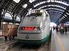"17 July 2005 :: A Trenitalia ""Eurostar"" at the buffer stops in Milan Central Station"