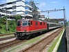 16 July 2005 :: SBB Re 4/4 no. 11261 is slowing its train as it approaches Locarno Station