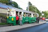 28 August 2005 :: The trip started off in Stockholm with a ride on a heritage tram on route 7 and is pictured at Djurgården  at the end of the line