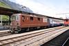 "9 May 2005 :: BLS Re 4/4 no. 176 ""Hohtenn"" waits at Interlaken Ost to form a service to Zweisimmen"