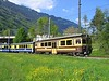 11 May 2005 :: Berner Oberland-Bahn (BOB) ABeh 4/4 railcar is approaching Interlaken Ost with a train from Lauterbrunnen