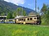 11 May 2005 :: Berner Oberland-Bahn (BOB) ABeh 4/4 railcar is approaching Interlaken Ost with a train from Lauterbrunnen