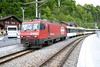 9 May 2005 :: SBB Brünig livery 101 9665 calls at Brienz with a train for Interlaken Ost