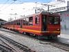 12 May 2005 :: Jungfraubahn BDhe 4/8 no. 214 at Kleine Scheidegg.  The Jungfraubahn is meter gauge rack railway which operates mostly in tunnels between Kleine Scheidegg and Jungfraujoch, the highest station in Europe at 11,332 feet above sea level