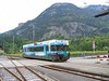9 May 2005 :: The modern day rolling stock on the MIB is this Be 4/4 8 and seen approaching Meiringen Station