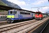 9 May 2005 :: BLS Re 4/4 no. 420 502 is at Interlaken Ost with a train for Zweisimmen