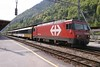 9 May 2005 :: Still in the old SBB Brünig livery 101 966 is at Interlaken Ost with a train for Luzern
