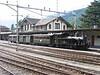 21 June 2005 :: 1913 built Ballenberg Dampfbahn Brienz (BDB) no. 208 2-6-0T at Meiringen with a special train