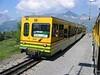 23 June 2005 :: Wengernalpbahn (WAB) unit is a passing loop between Wengen and Lauterbrunnen