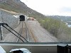 31 May 2006 :: The view forward from the cab of 1334 with a stray reindeer just by the track