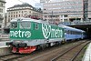 29 May 2006 :: In a special Metro advertising livery, Rc6 1332 stands at Stockholm Central waiting to work the 1758 Connex operated sleeper train to Narvik