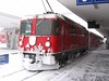"""18 January 2006 :: RhB Ge 4/4ii no. 630 """"Trun"""" showing the effects of the winter weather as it arrives at Samedan"""