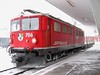 """18 January 2006 :: RhB Ge 6/6/no. 706 """"Disentis / Muster"""" passing through Samedan with a single freight wagon"""