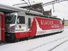"18 January 2006 :: Glacier on Tour liveried RhB Ge 4/4iii no. 651 ""Fideris"" is seen at Sagliains"