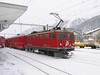 18 January 2006 :: RhB Ge 4/4ii no. 602 is about to depart from Samedan with a train for Pontresina