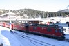 "16 January 2006 ::  RhB Ge 4/4 ii's  613 ""Domat / Ems"" + 626 ""Küblis"" wait at Arosa to form the next service to Chur"