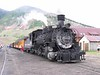 1 July 2006 :: At Silverton on the Durango and Silverton Narrow Gauge Railroad  no. 481, a K-36 Class 2-8-2 built in 1925 by Baldwin is preparing to depart with the 1400 to Durango