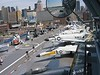 23 June 2006 :: A view of the flight desk of USS Intrepid showing a wide variety of aircraft on display