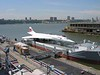 23 June 2006 :: On a barge adjacent to the  USS Intrepid is this ex British Airways Concorde, G-BOAD
