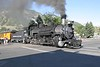 1 July 2006 :: Crossing the highway at Durango is 482, a 1925 Baldwin built 2-8-2 departing for Silverton on the  Durango and Silverton Narrow Gauge Railroad