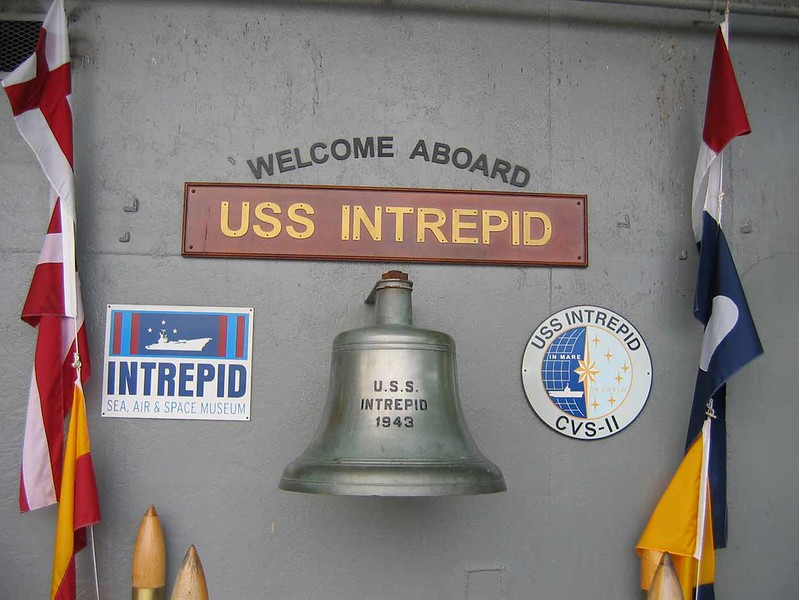 23 June 2006 :: The tour started off in New York and a visit to the USS Intrepid aircraft carrier which is now a military museum. It was launched in 1943 and saw 31 years of service