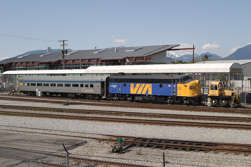 10 May 2007 :: Via Rail FP9ARM no. 6300 resting between its duties as a yard switcher at Vancouver BC