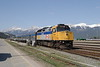 12 May 2007 :: Via Rail F40PH-2 no. 6449 at Jasper station and will form tomorrow's train to Prince Rupert