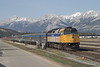 12 May 2007 :: With such magnificent scenery, superb light and a train well worth photographing I had to have another look at Via Rail F40PH-2 no. 6449 at Jasper ready to be tomorrows Skeena