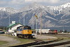 13 May 2007 :: A view of Jasper featuring Via Rail F40PH-2 no. 6449 and the pair of C40-8M's CN no. 2417 + BC Rail no 4618