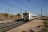 28 September 2007 :: Seen at Huerta de Valdecarábanos is a Talgo driving trailer