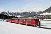 27 February 2007 :: RhB  ABe 4/4's  no. 45 + 41 on a 2 coach train at Pontresina