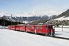27 February 2007 :: RhB  ABe 4/4's  no. 45 + 41 on a 2 coach train at Pontresina
