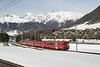 27 February 2007 :: RhB  driving trailer 1756 is approaching Pontresina with a train from Davos