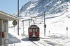 27 February 2007 :: RhB  ABe 4/4 no. 46 is seen arriving at Bernina Lagaib with a train from Tirano