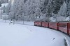 27 February 2007 :: Almost a Christmas scene as RhB Ge 4/4iii no. 646 makes its way from Bergün/Bravuogn to  Preda