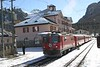 "27 February 2007 :: RhB Ge 4/4ii no. 617 ""Ilanz"" standing at Pontresina Station"