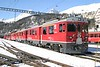 """27 February 2007 :: RhB  ABe 4/4ii no. 54 """"Hakone"""" is pictured at St Moritz and will work the next train to Tirano over the Bernina line"""