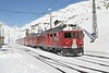 "27 February 2007 :: RhB  ABe 4/4ii no. 54 ""Hakone"" departs from Ospizio Bernina on its way to Tirano"